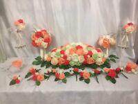 Artificial wedding flower set