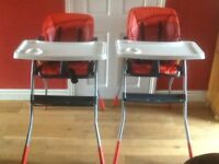 Reclining high chair
