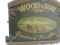 Antique brewery sign