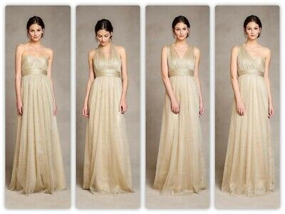 Jenny Yoo Gold Tulle Annabelle Formal/Bridesmaid Dress