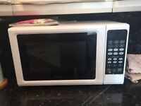 Kenwood white microwave oven
