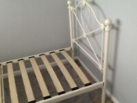 CREAM 3FT METAL BED FRAME