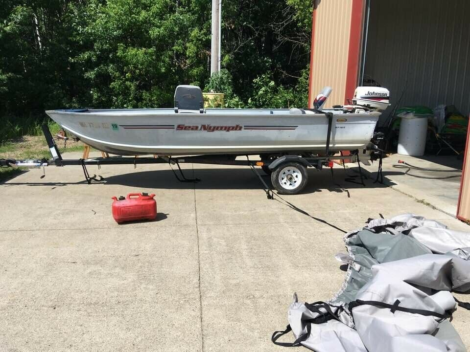 FOR SALE  16ft. Sea Nymph boat with trailer,