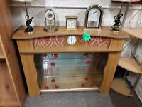 Retro glass china cabinet Copley Mill LOW COST MOVES 2nd Hand Furniture STALYBRIDGE SK15 3DN