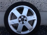 17INCH 5/100 GENUINE VW AUDI ALLOY WHEELS WITH TYRES FIT MOST MODELS
