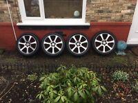 "Genuine Set of 7-Spoke Honda CR-V 19"" Alloys + Tyres RARE"