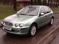 2003 53 ROVER 25 1.4 5 DOOR HATCH WITH ONLY 30000 MILES AND SERVICE HISTORY AND MOT UNTILL NOV 2017