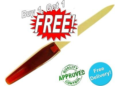 Best Stainless Steel Nail File with Anti Slip Handle Easy for Men and Woman