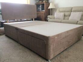 Double Divan Storage Bed Base Inc Headboard