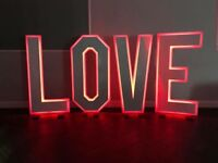 5FT Light Up Love Letter / 4ft Scrabble Tile Love Letter Hire