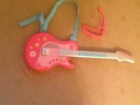 Elc rockstar guitar pink