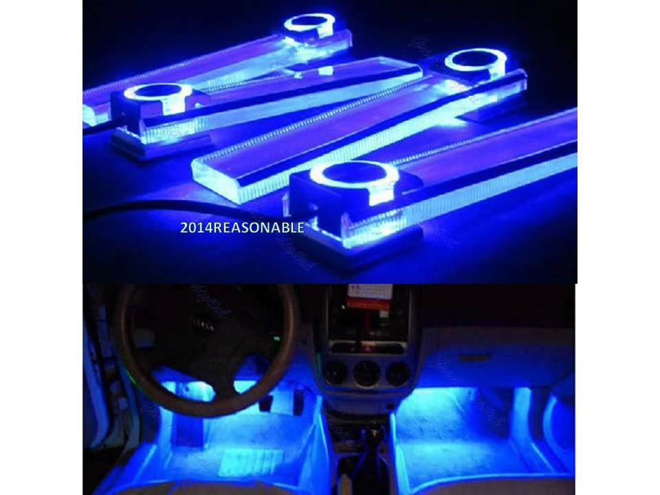 Car Interior Light Car Accessories Blue Led Lighting For Cars Universal Ebay