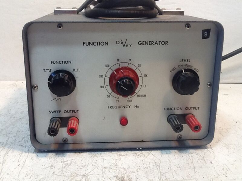 DeVRY Function Generator. Sweep Output,function Output,used.