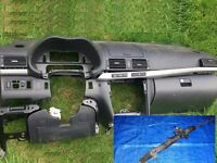 Left hand drive Europe Toyota Avensis T25 2003 - 2008 dashboard steering rack LHD conversion