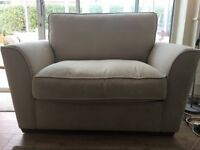 Brand New Designer fable light brown fabric chair bed sofa