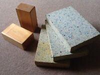 Yoga blocks, suit beginner, 5 foam, 2 wooden