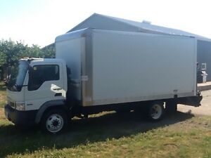 2009 Diesel CF 500 Cabover with 16 ft. Box and tailgate