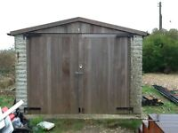 Garage/shed. Sectional concrete 3metres by 8 metres