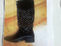Brand New - Black Studded Boots