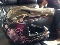 Junior size XL motor bike helmet