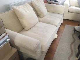a set of 2 ivory sofas for sale