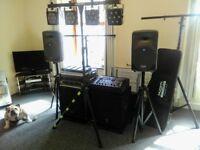 Yamaha AX15W Bass Bins Mackie C200 Full range Crown amp /Laney amp