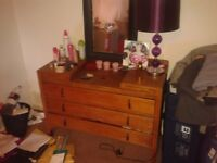 antique chest of drawers £35