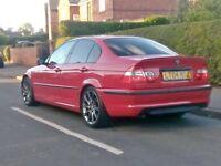 2004/BMW 320D M SPORT IMOLA RED 6 SPEED. BARGAIN QUICK SALE