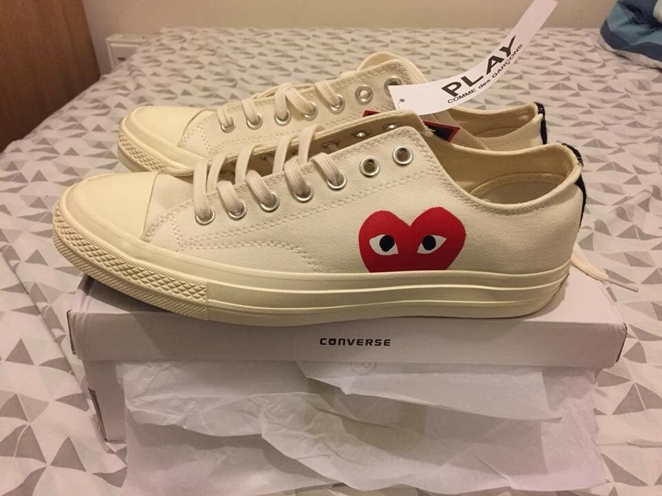 44e1b218f367 Comme Des Garcons PLAY x Converse Chuck Taylor All Star 70 Low White