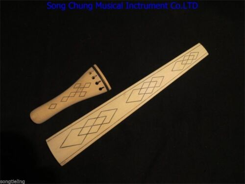 Baroque style nature maple 4/4 cello fingerboard /tailpieces