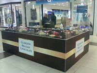 For sale. Trading kiosk with glass. 2m x 3m. With building plans