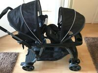 Graco Buggy ( Double ) with Car seat