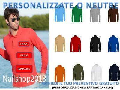 Polo Da Lavoro Manica Lunga Uomo Jhk Maglietta Cotone T-shirt Con Colletto