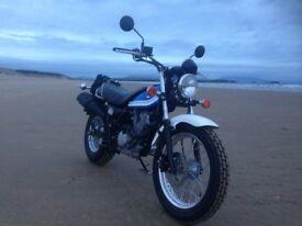 Suzuki VanVan 200cc Scrambler Style Motorcyle. Mint Condition. Very Low Miles. Mature Owner.