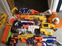 Nerf Guns, (9 Nerf Guns) ammo and accessories.