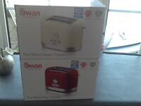 2 swan toasters (new)