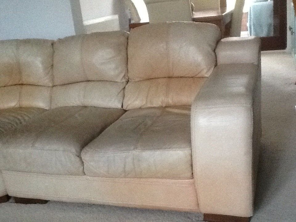 Leather Sofa Corner Unit And Separate Chair
