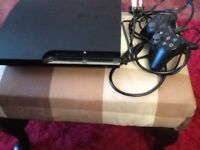 PS3 console with 1 controller and leads,spares or repair