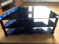 Black Glass Corner TV Unit (Large)