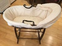 Clair-de-lune Moses Basket with Rocking Stand