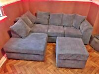 🌻BRAND NEW COUCHES🌻 DYLAN JUMBO CORD FABRIC CORNER & 3+2 SETTER SOFA SUITE ORDER NOW