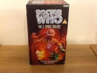 Dr Who The E Space Trilogy vhs videos from 1997 in good used conditon