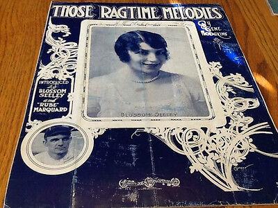 (1912 Rube Marquard Sheet Music Baseball Theme Those Rag Time Melodies)