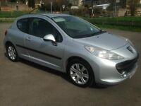 peugeot 207 1.6 hdi 90 bhp sport 2007/57 plate 98k full history and 4 months mot (£30 a year tax)..