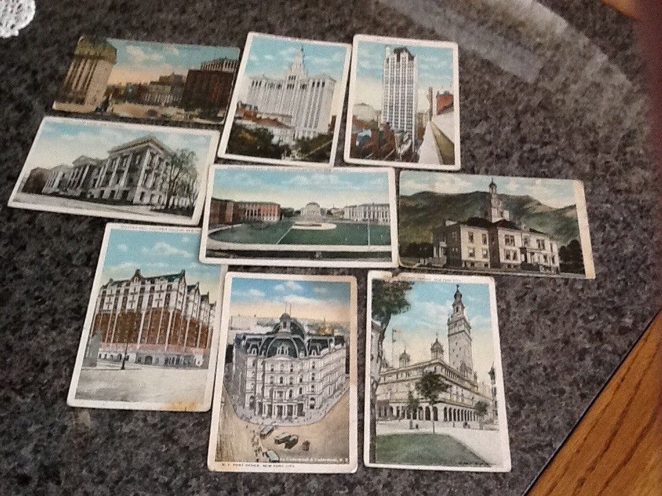 12 Post cards of (mainly) New York