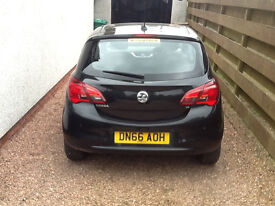 2016 66 Plate Vauxhall Corsa SE Ecoflex 1.4 litre Black 1350 Miles - Nearly New Condition
