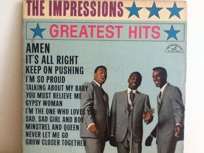THE  IMPRESSIONS           LP      GREATEST   HITS