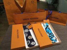 Genuine/authentic Louis Vuitton Silk Ties in original LV boxes/bags