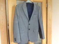 Next suit age 13 years, colour grey