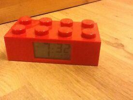 Lego Red Kids Digital Alarm Clock